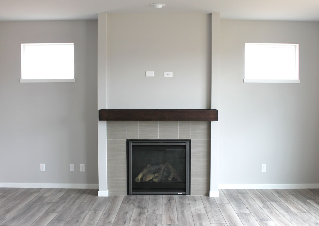 12x12 tile fireplace with mckinley mantel veridian homes