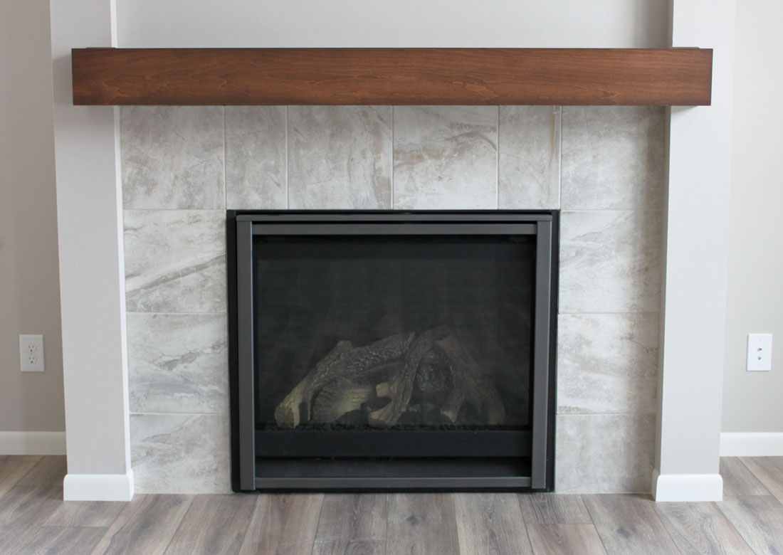 Gray Tile Fireplace Techieblogie Info