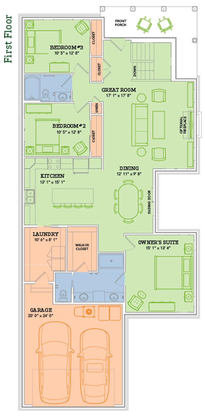 The oscar home plan veridian homes for Oscar plans