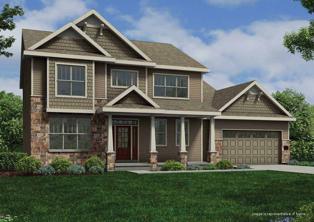 The maybeck home plan veridian homes for Exterior house color visualizer free